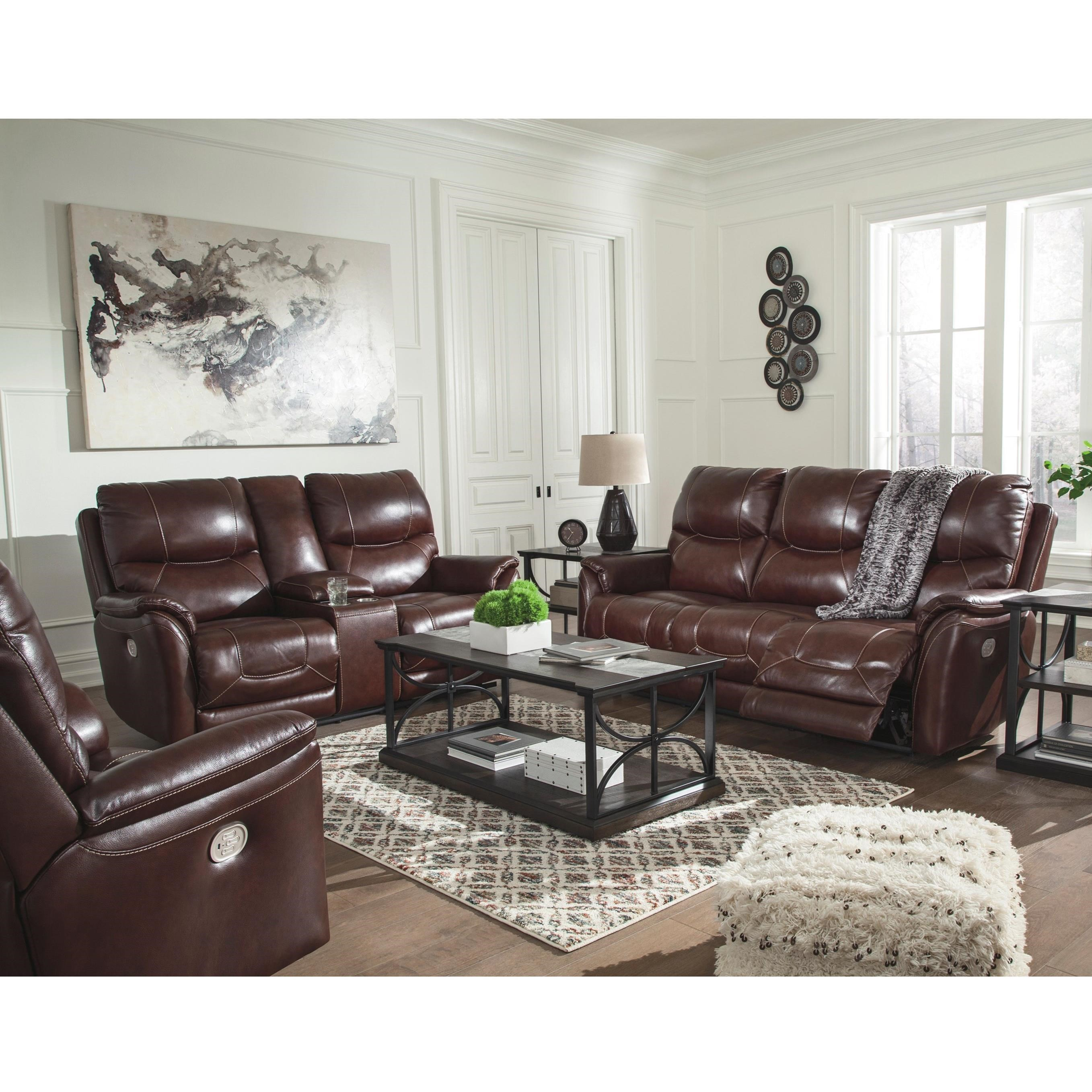 Dellington Power Reclining Living Room Group by Ashley (Signature Design) at Johnny Janosik