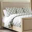 Signature Design by Ashley Demarlos Queen Upholstered Panel Headboard - Item Number: B693-57