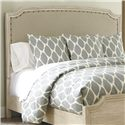 Signature Design by Ashley Demarlos Queen Upholstered Panel Headboard - Item Number: B693-77