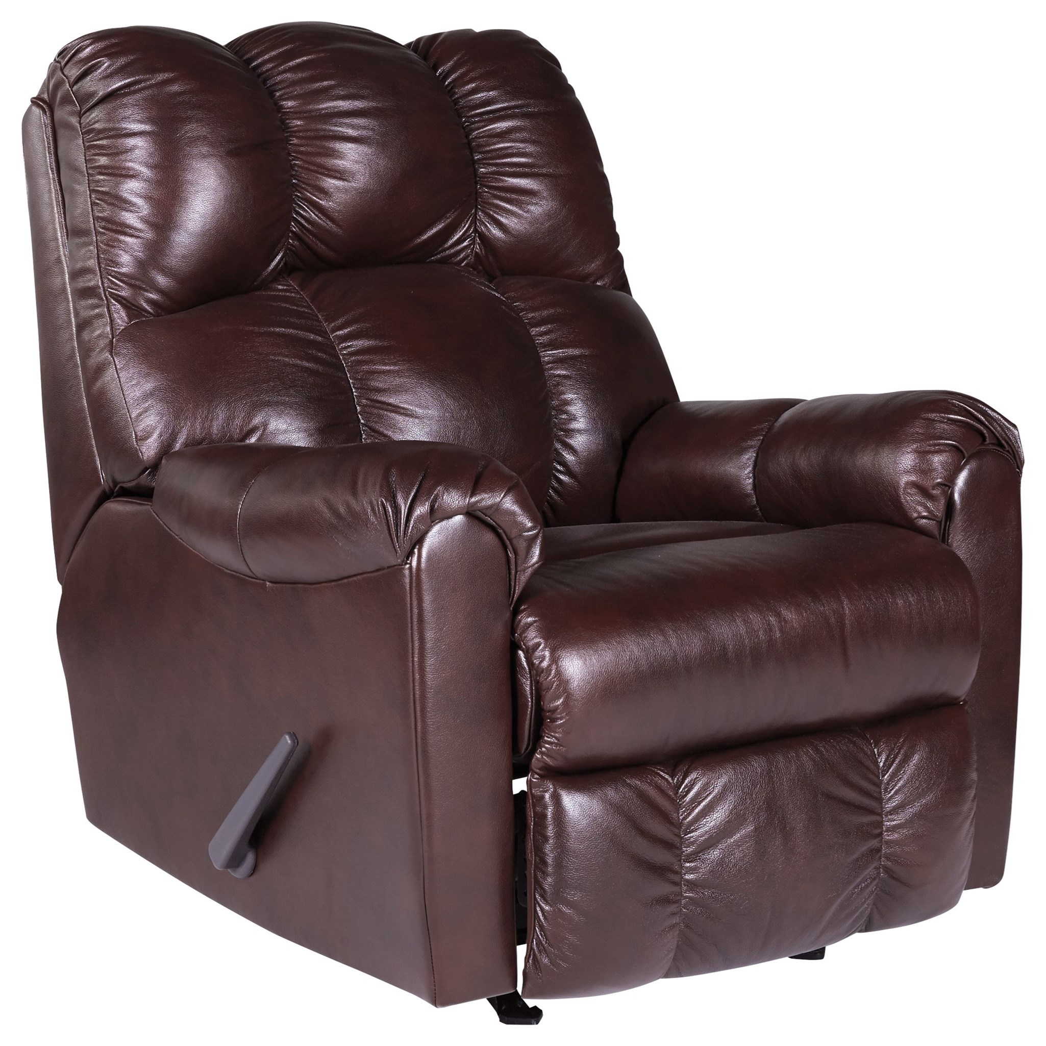 Signature Design By Ashley Denaraw Leather Match Rocker Recliner Value City Furniture Three