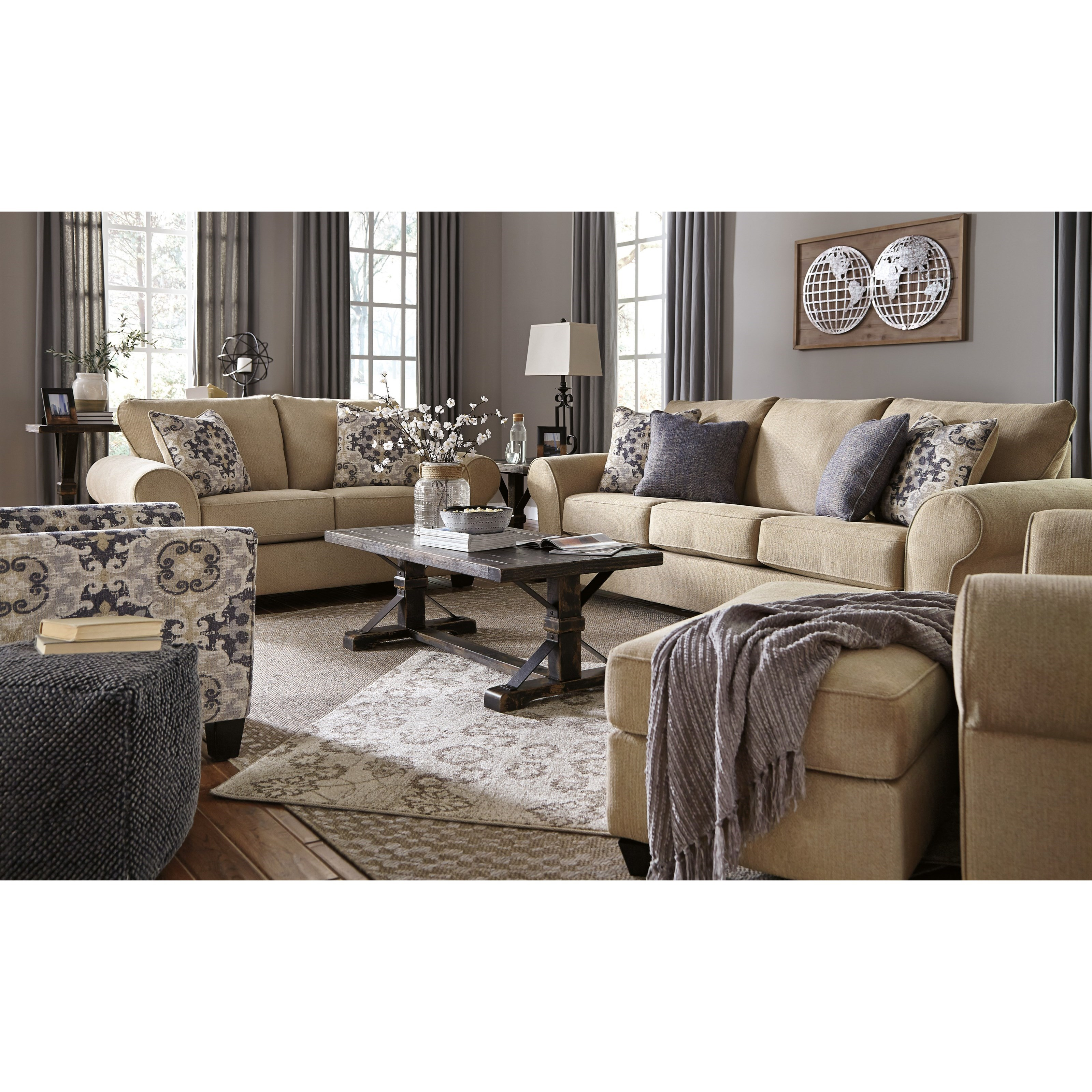 Ashley signature design denitasse stationary living room for Living room ideas ashley furniture
