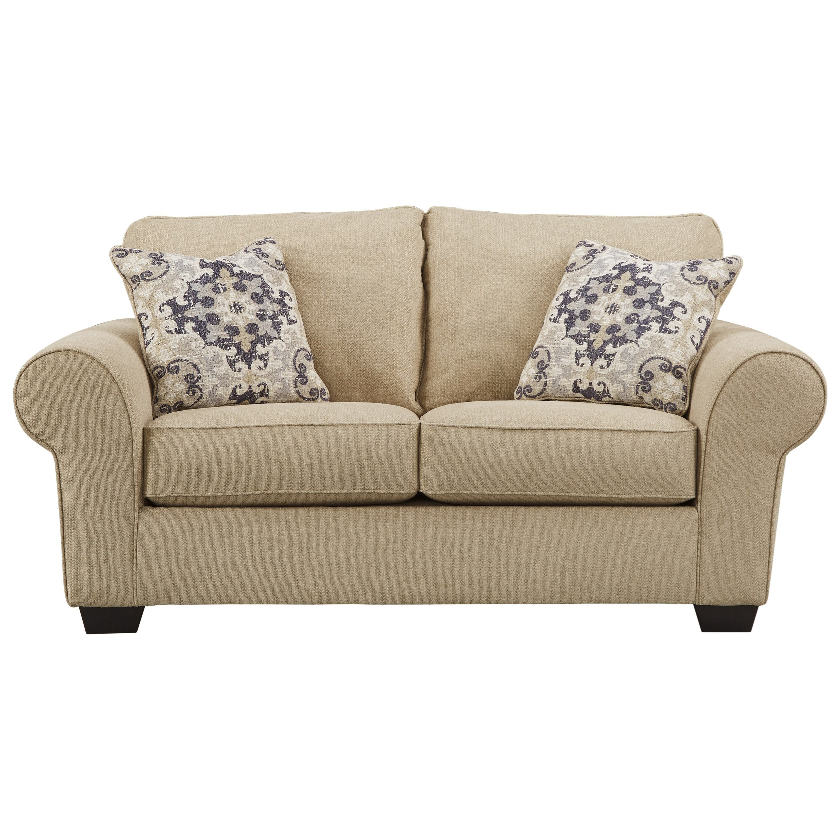 Signature Design By Ashley Denitasse Casual Loveseat With Rolled Arms Rotmans Love Seats
