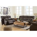Signature Design by Ashley Denoron Sofa, Loveseat and Recliner - Item Number: PKG008135