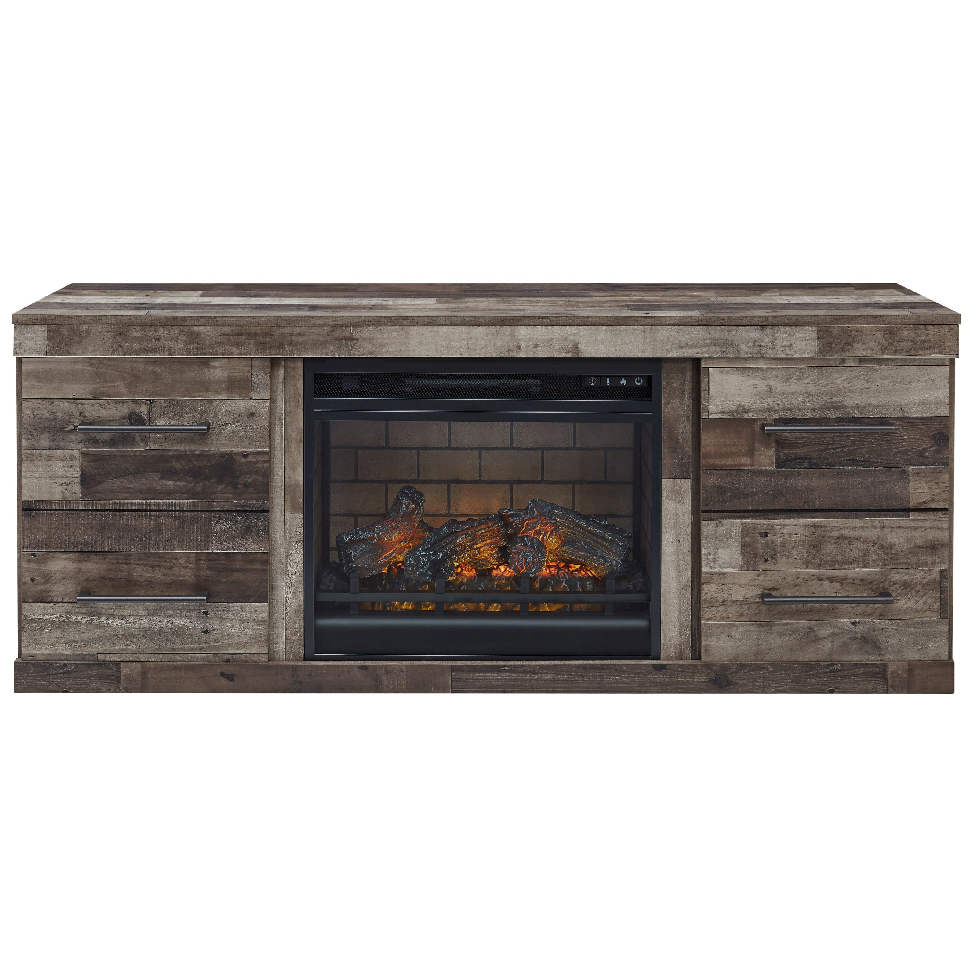Derekson Fireplace Console by Ashley (Signature Design) at Johnny Janosik