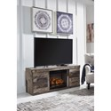 Signature Design by Ashley Derekson Rustic 2-Door Fireplace Console