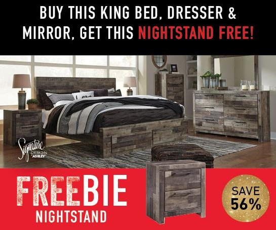 Derekson Derekson King Bed Package with FREEBIE! by Ashley at Morris Home