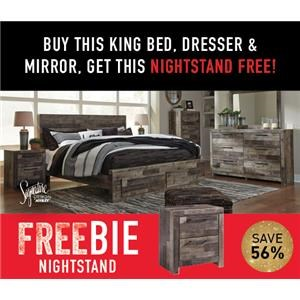 Derekson King Bed Package with FREEBIE!