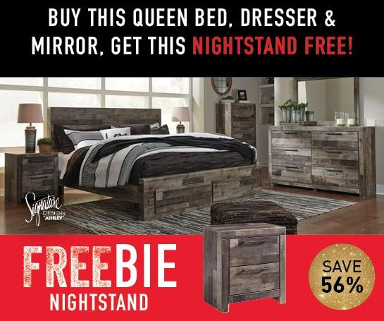 Derekson Derekson Queen Bed Package with FREEBIE! by Ashley at Morris Home