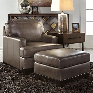 Signature Design by Ashley Derwood Upholstered Chair & Ottoman