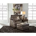 Signature Design by Ashley Derwood Contemporary Leather Match Chair