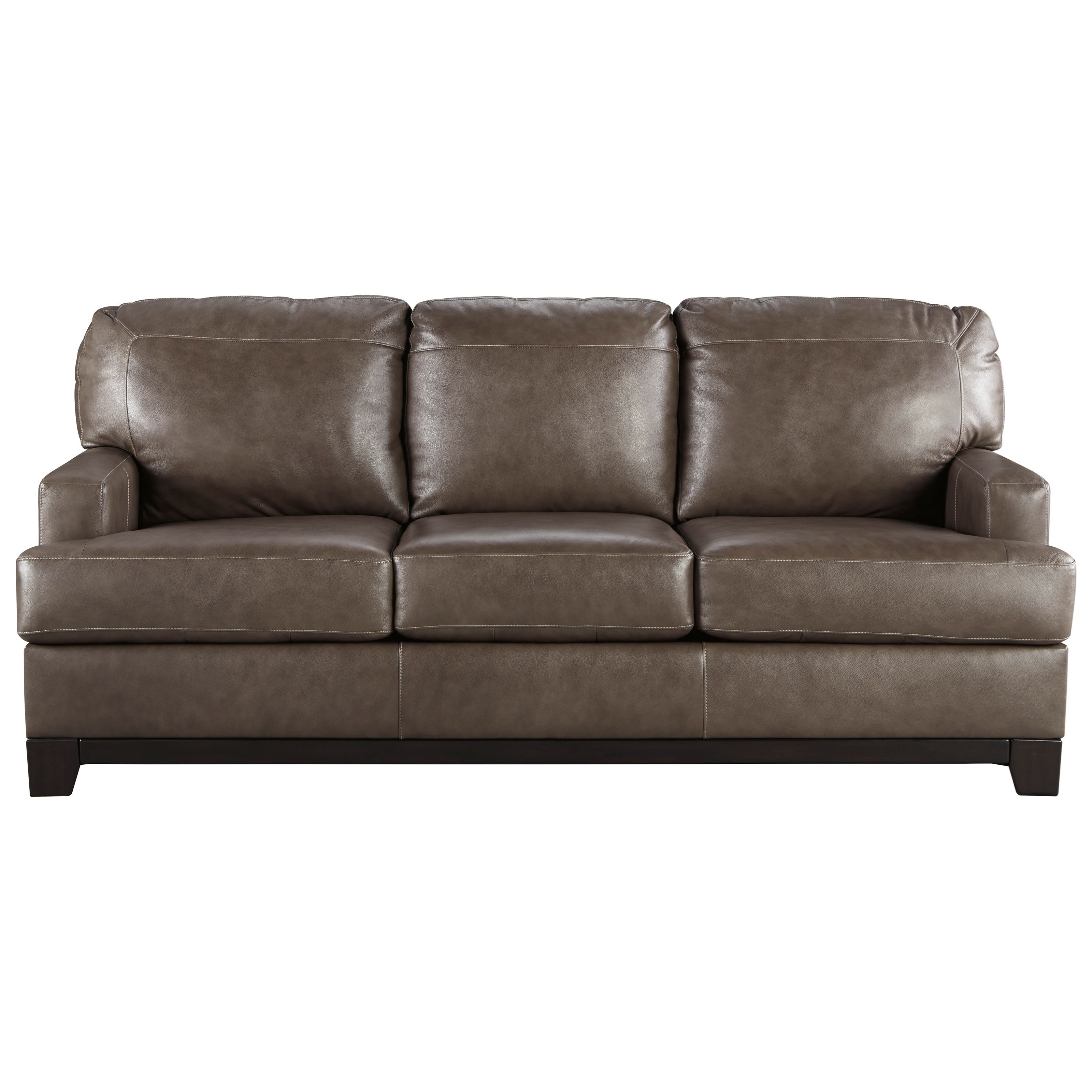 Signature design by ashley derwood contemporary leather match queen sofa sleeper rotmans Sleeper sofa uk