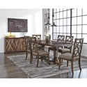 Signature Design by Ashley Devasheen Formal Dining Room Group - Item Number: D687 Dining Room Group 2