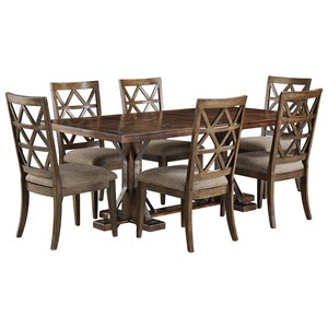 Signature Design by Ashley Devasheen 7 Piece Rectangular Table Set