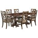 Signature Design by Ashley Devasheen 7 Piece Rectangular Table Set - Item Number: D687-25+6x01