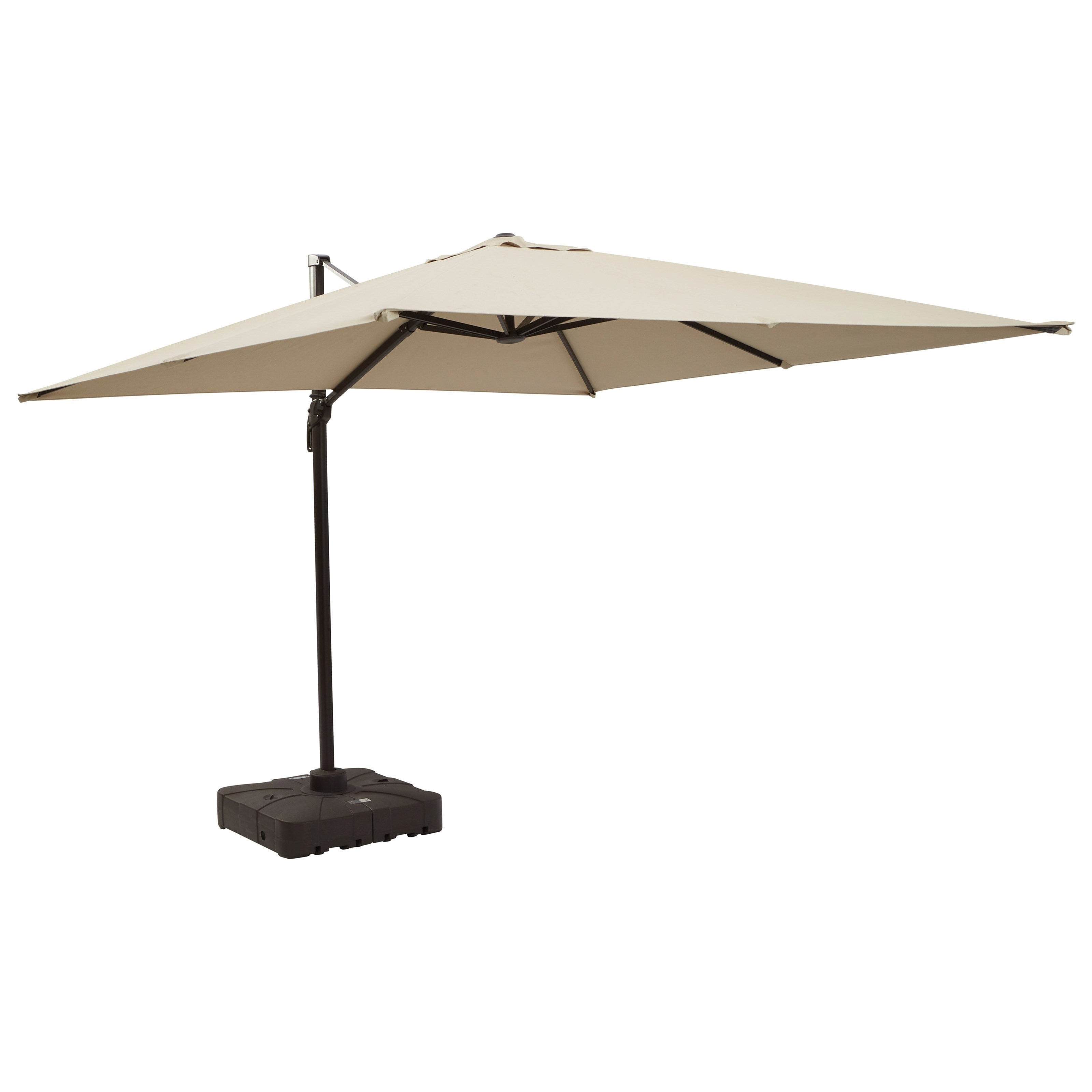 Devra Bay Large Cantilever Umbrella & Base by Ashley (Signature Design) at Johnny Janosik
