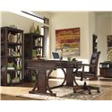 Signature Design by Ashley Derrick Home Office Desk with Drop Down Keyboard Tray