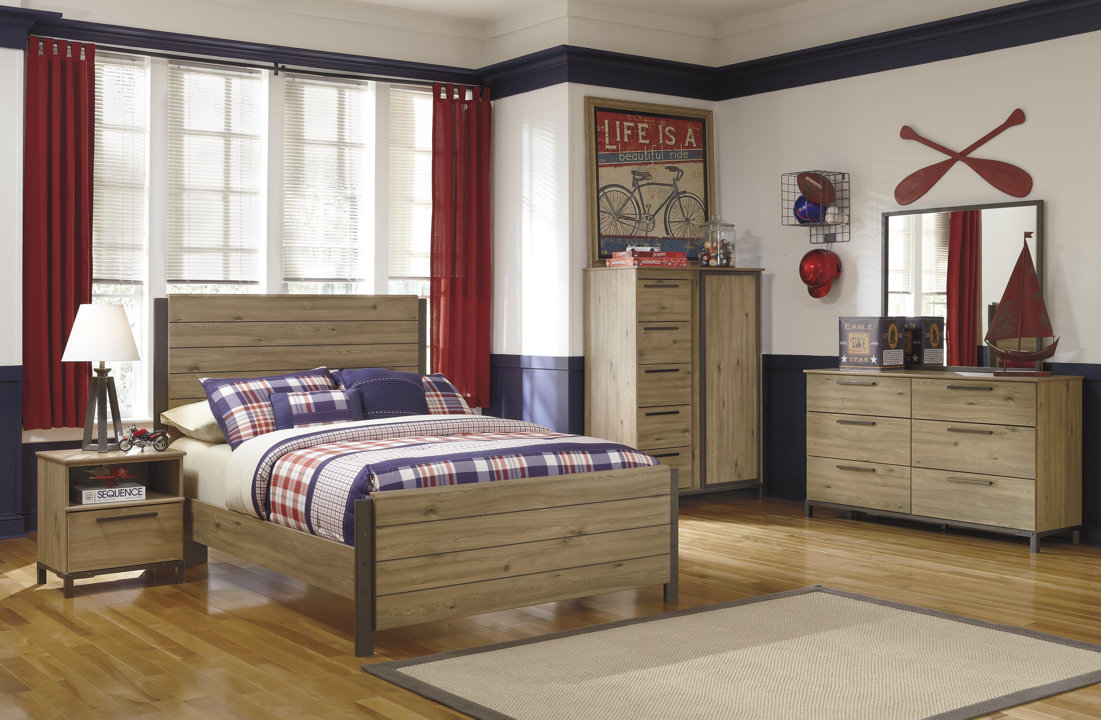 Signature Design by Ashley Dexifield Full Bedroom Set Group - Item Number: B298 F Bedroom Group 3 No Chest