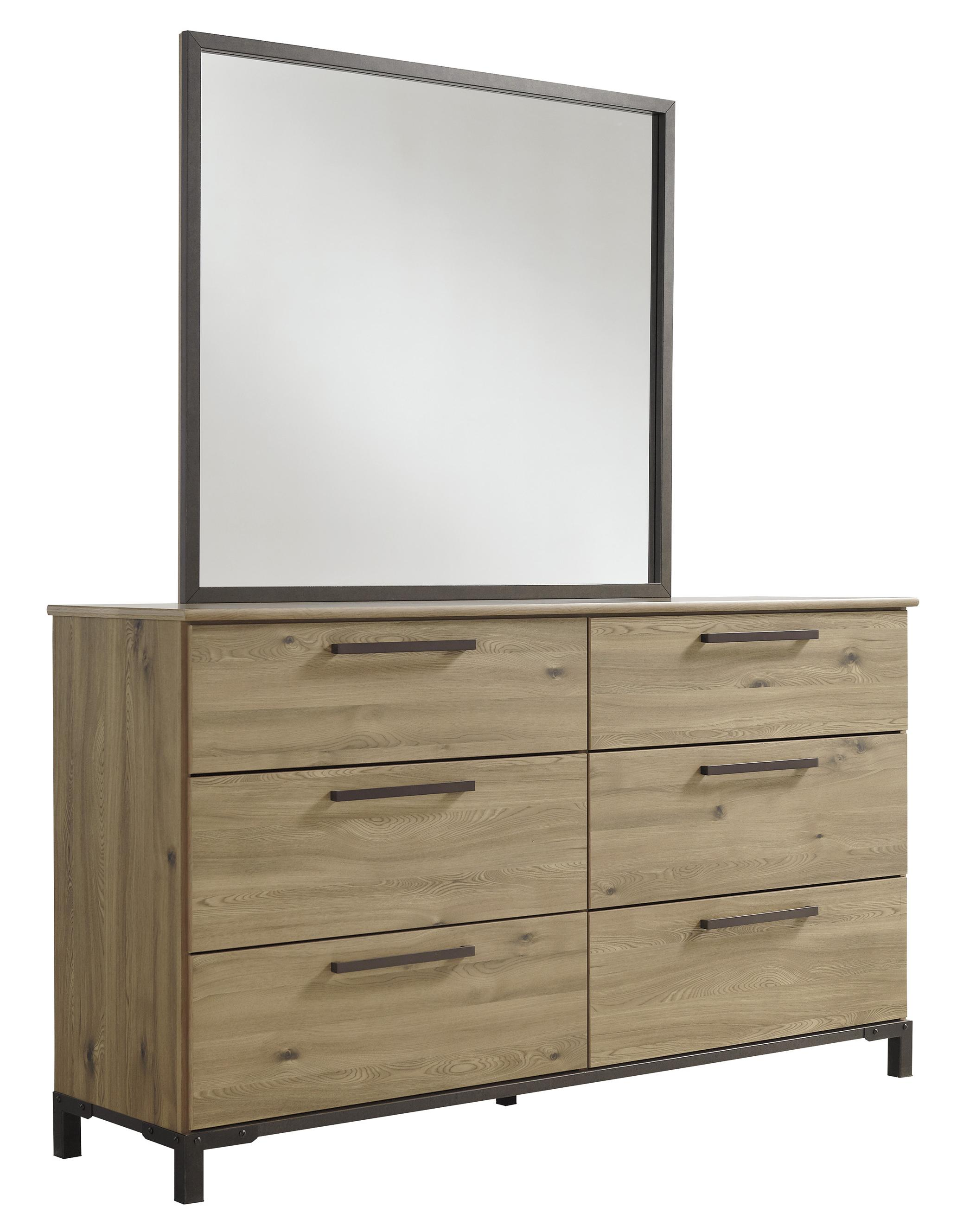Signature Design by Ashley Dexifield Dresser & Bedroom Mirror - Item Number: B298-21+26