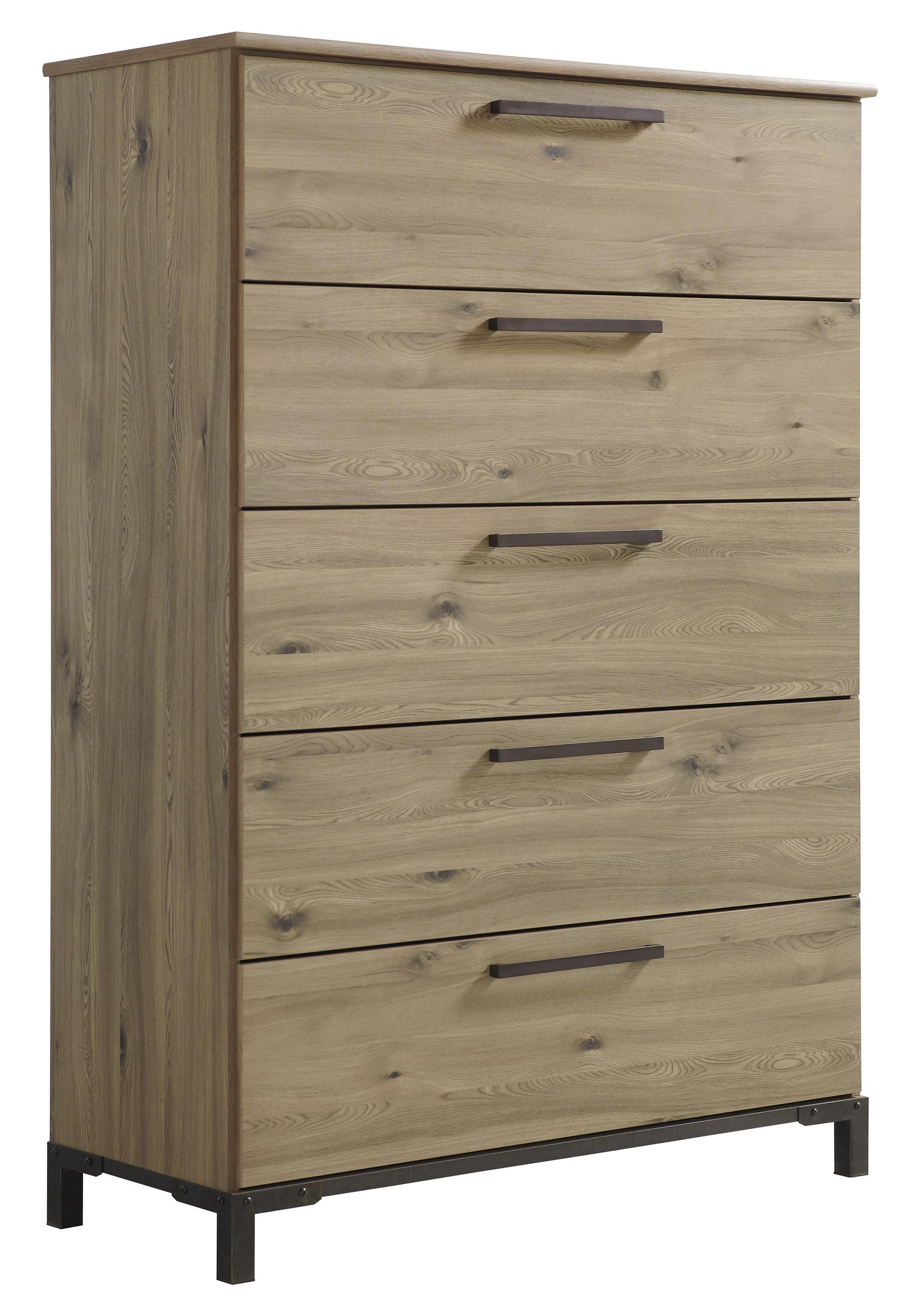 Signature Design by Ashley Dexifield Five Drawer Chest - Item Number: B298-46