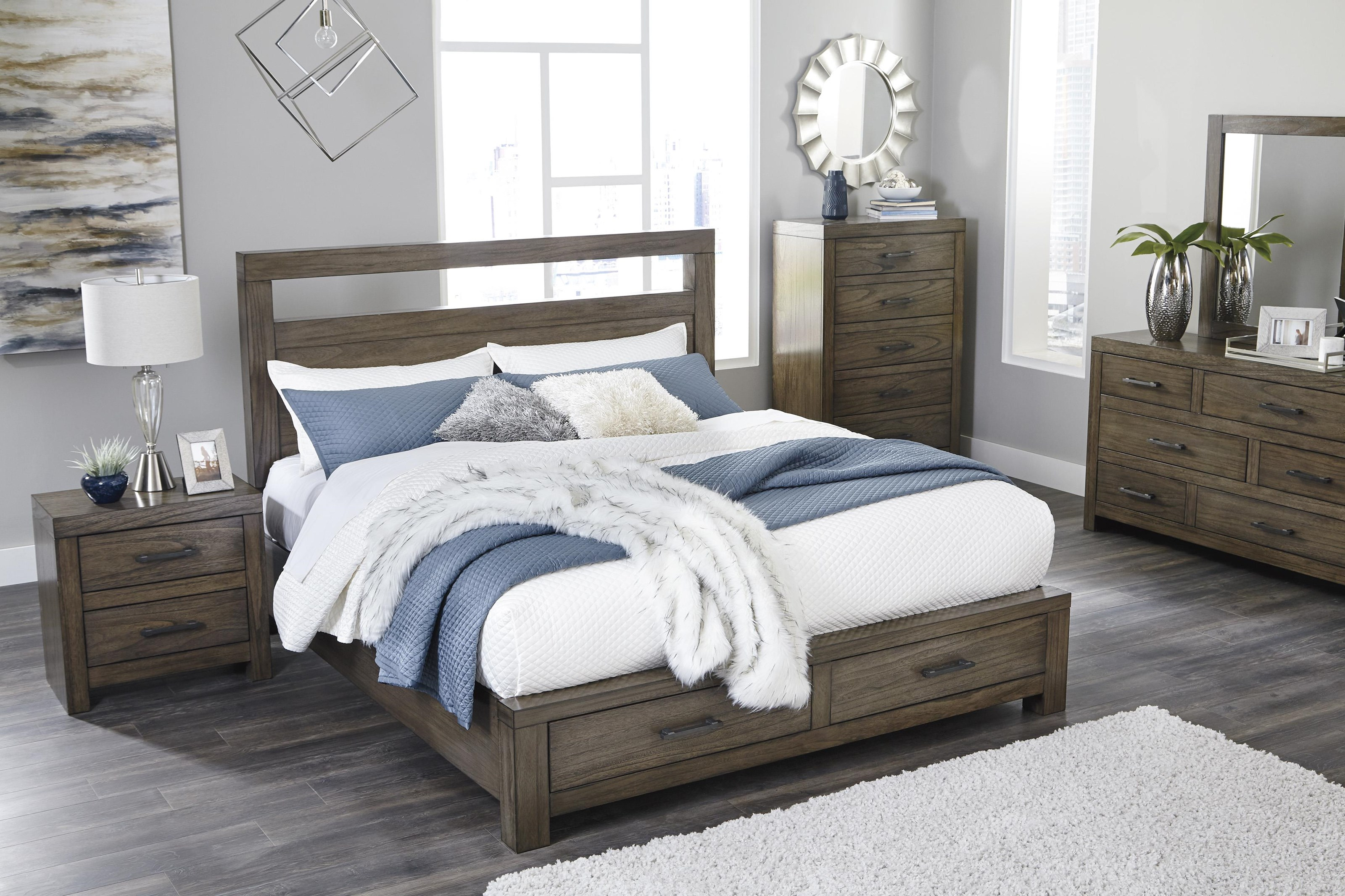 Signature Design By Ashley Deylin B537 57 54s Queen Storage Bed Furniture And Appliancemart Panel Beds