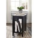 Signature Design by Ashley Diamenton Black Paint Chair Side End Table with Faux Concrete Top