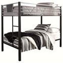 Signature Design by Ashley Dinsmore Twin/Twin Bunk Bed w/ Ladder - Item Number: B106-59