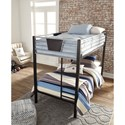 Signature Design by Ashley Dinsmore Twin/Twin Metal Bunk Bed w/ Ladder
