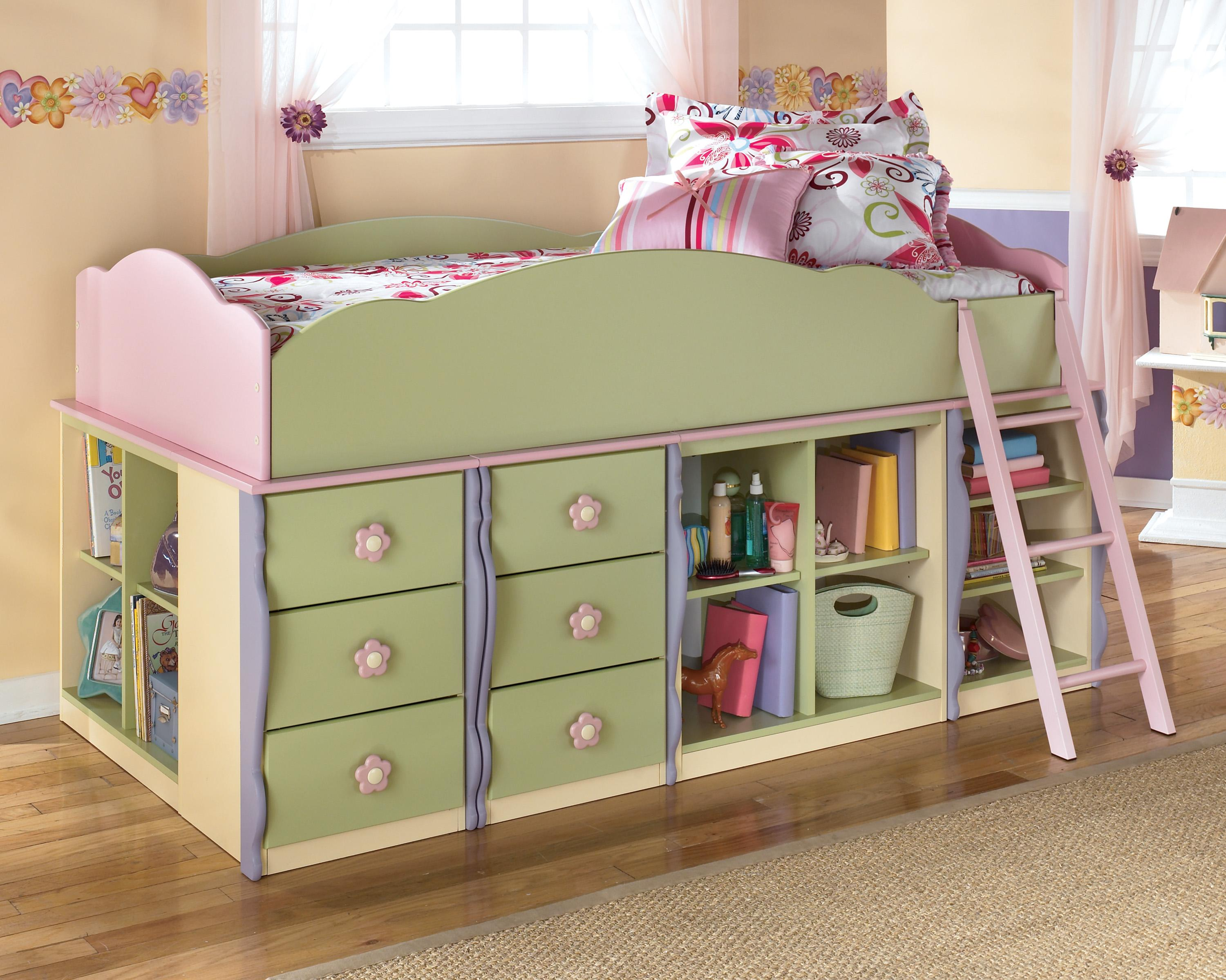 Levitz Bedroom Furniture Signature Design By Ashley Doll House Modular Loft Bed W Underbed