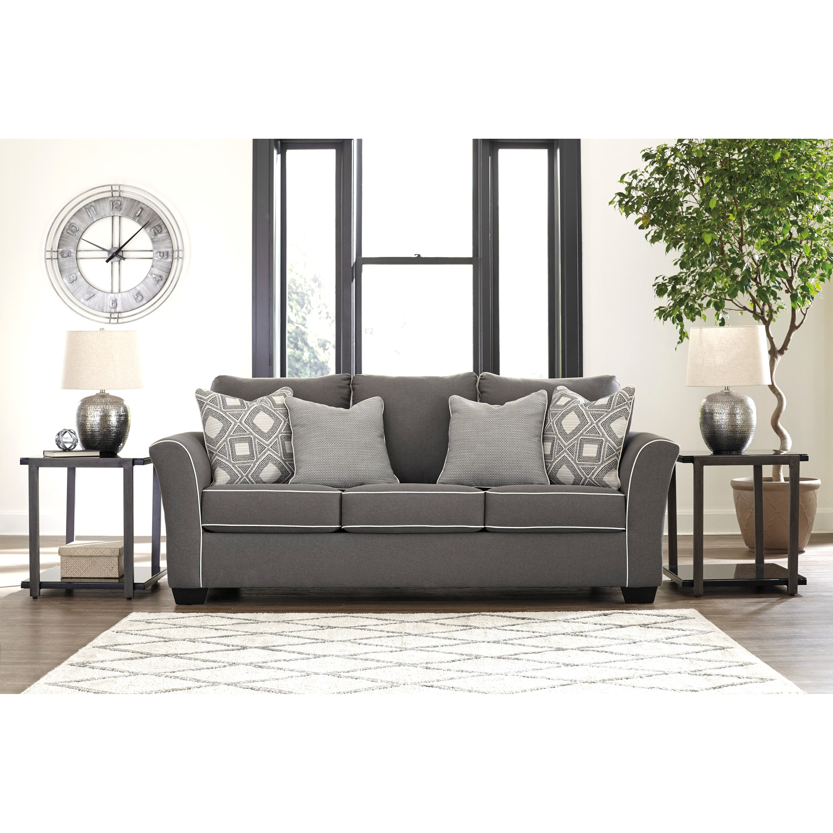 Signature Design Domani Contemporary Queen Sofa Sleeper