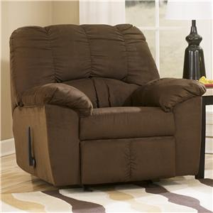 Signature Design by Ashley Furniture Dominator - Cafe Rocker Recliner