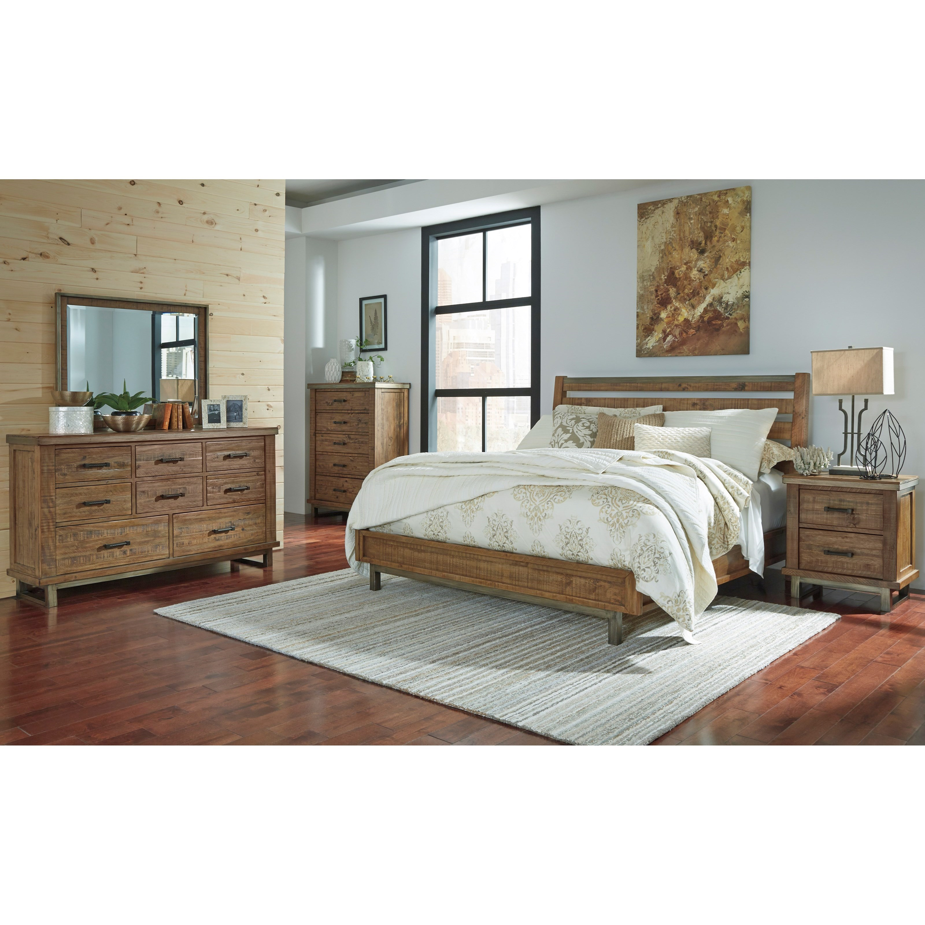 Signature Design by Ashley Dondie California King Bedroom Group - Item Number: B663 CK Bedroom Group 1