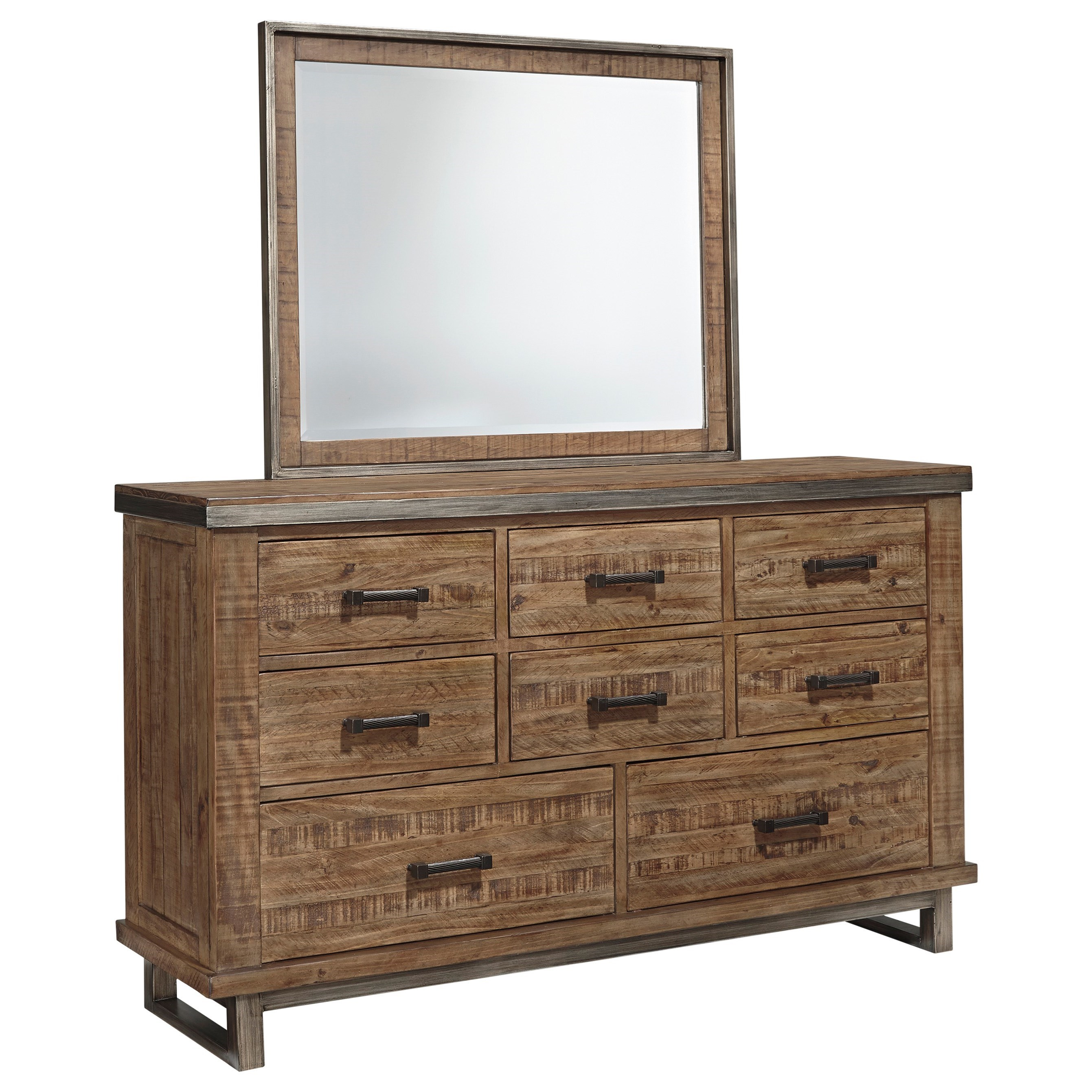 Signature Design by Ashley Dondie Dresser & Bedroom Mirror - Item Number: B663-31+36