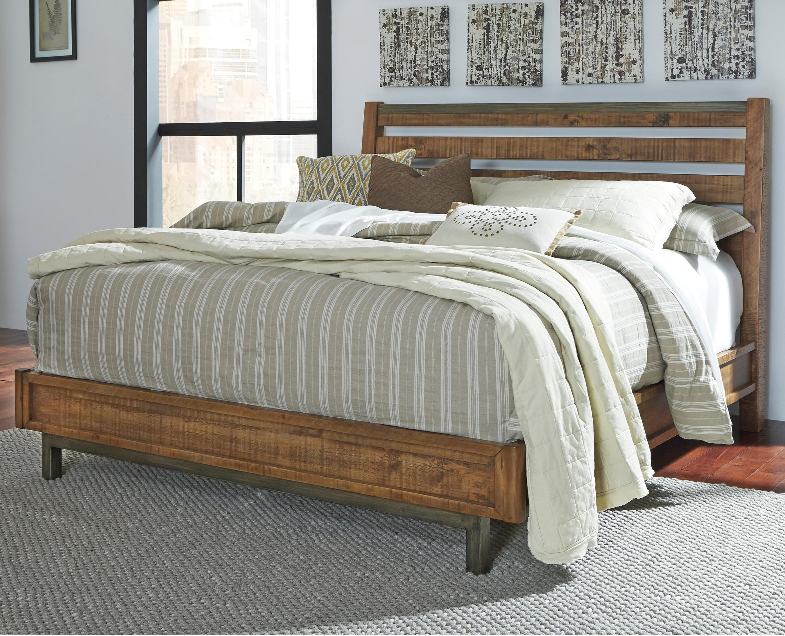 Signature Design by Ashley Dondie Queen Bed with Sleigh Headboard - Item Number: B663-57+54