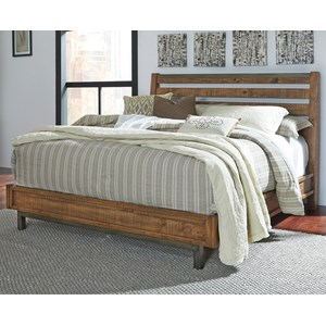 Signature Design by Ashley Dondie King Bed with Sleigh Headboard