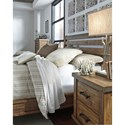Signature Design by Ashley Dondie Modern Rustic Solid Wood Queen Bed with Sleigh Headboard