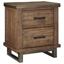 Signature Design by Ashley Dondie Two Drawer Night Stand - Item Number: B663-92