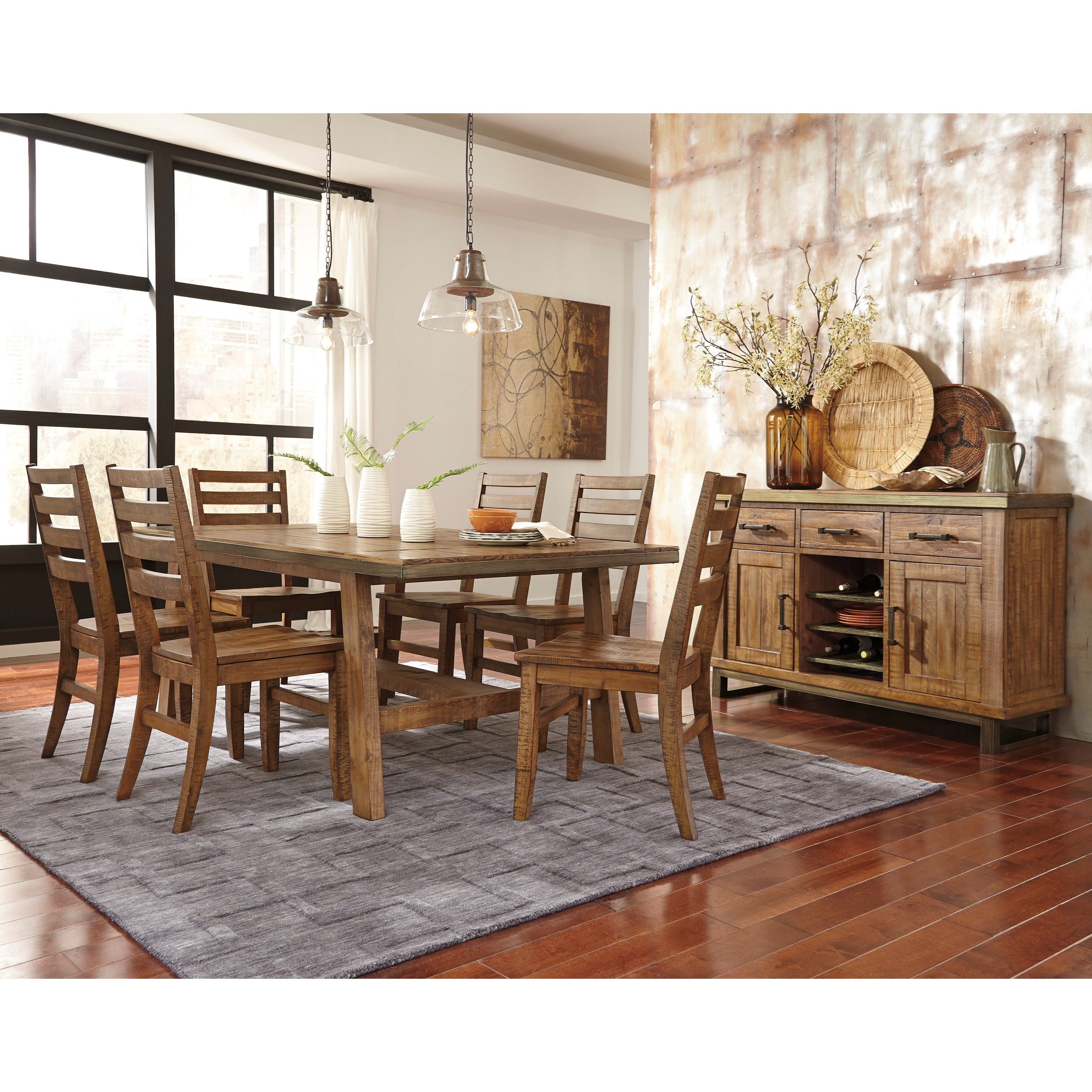 Signature Design by Ashley Dondie Casual Dining Room Group - Item Number: D663 Dining Room Group 1