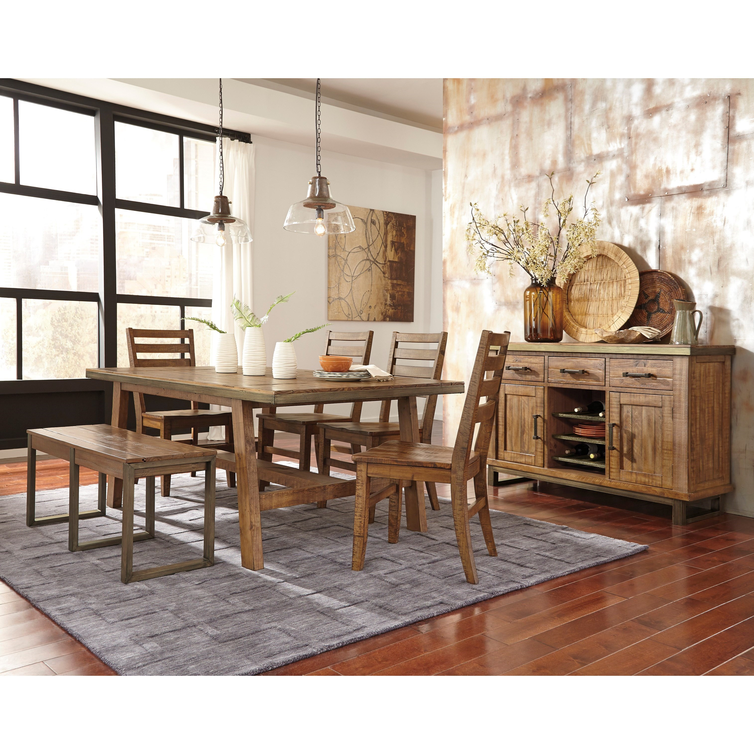 Signature Design by Ashley Dondie Casual Dining Room Group - Item Number: D663 Dining Room Group 2