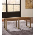 Signature Design by Ashley Dondie Dining Room Bench with Metal Base
