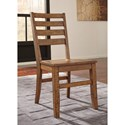 Signature Design by Ashley Dondie Solid Wood Dining Room Side Chair with Ladder Back