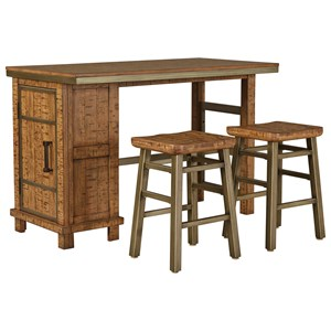 Signature Design by Ashley Dondie 3-Piece Rectangular Counter Table Set