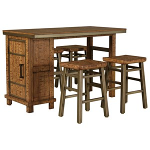 Signature Design by Ashley Dondie 5-Piece Rectangular Counter Table Set