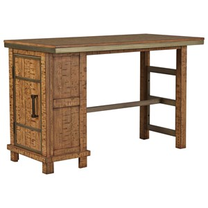 Signature Design by Ashley Dondie Rectangular Counter Table w/ Storage