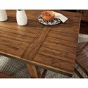 Signature Design by Ashley Dondie 5-Piece Solid Wood Rectangular Dining Table Set