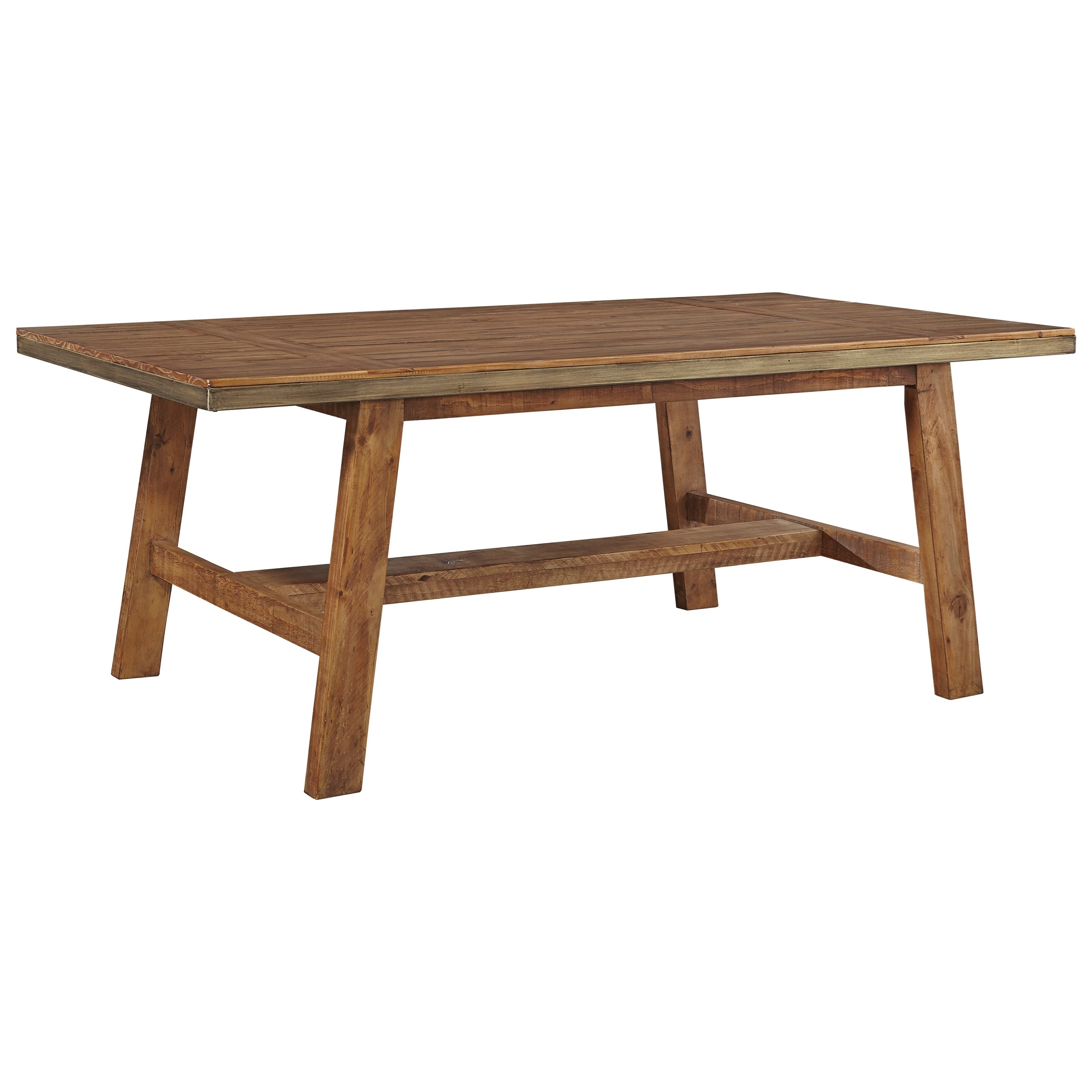 Signature Design by Ashley Dondie Rectangular Dining Room Table - Item Number: D663-25