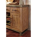 Signature Design by Ashley Dondie Solid Wood Dining Room Server with Metal Accents