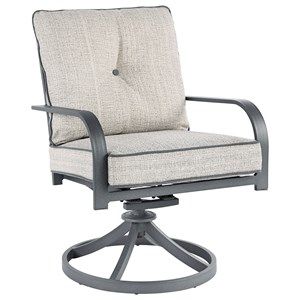 Outdoor Set of 2 Swivel Chairs