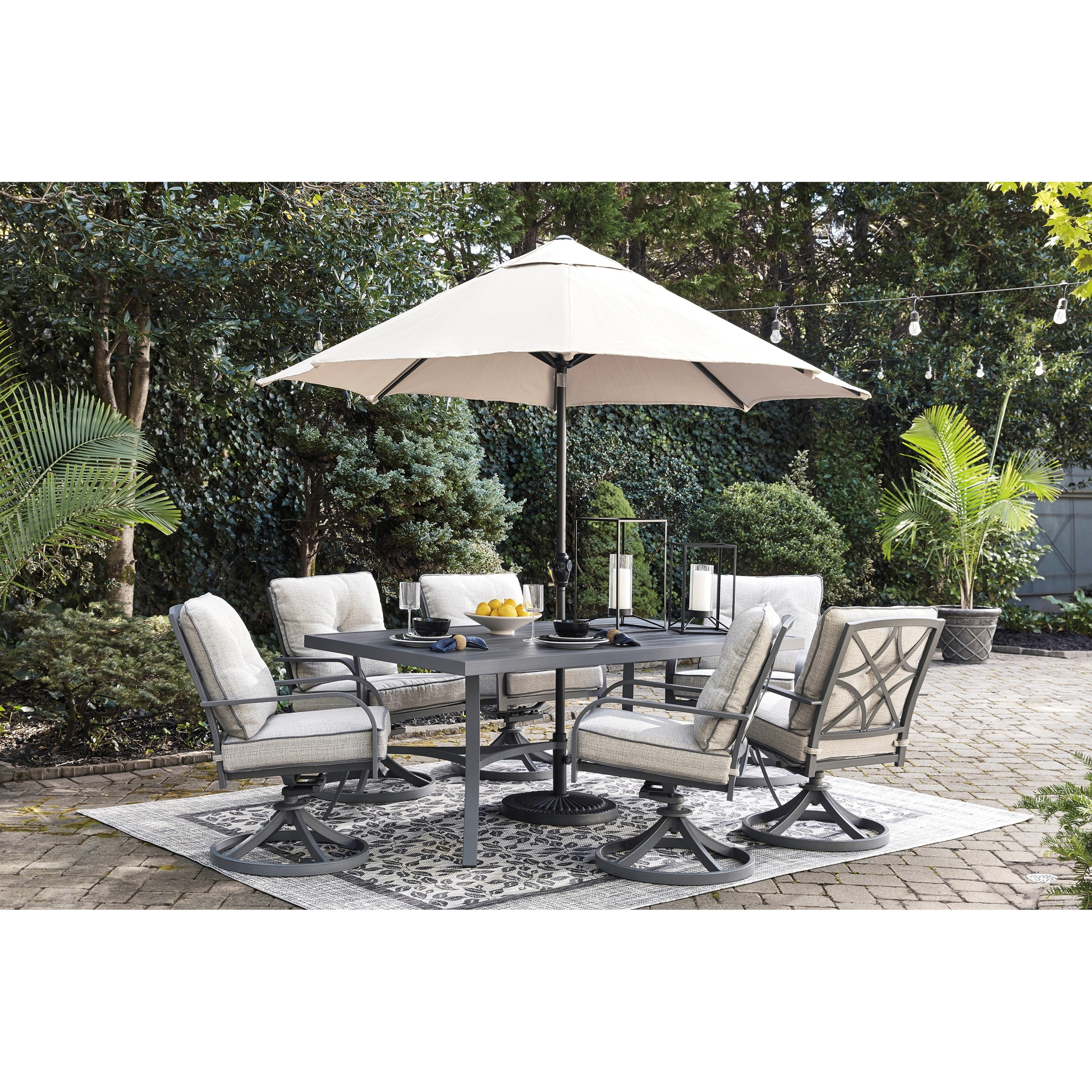 Signature Design By Ashley Furniture Hayley 7 Piece Dining: Signature Design By Ashley Donnalee Bay 7 Piece Outdoor