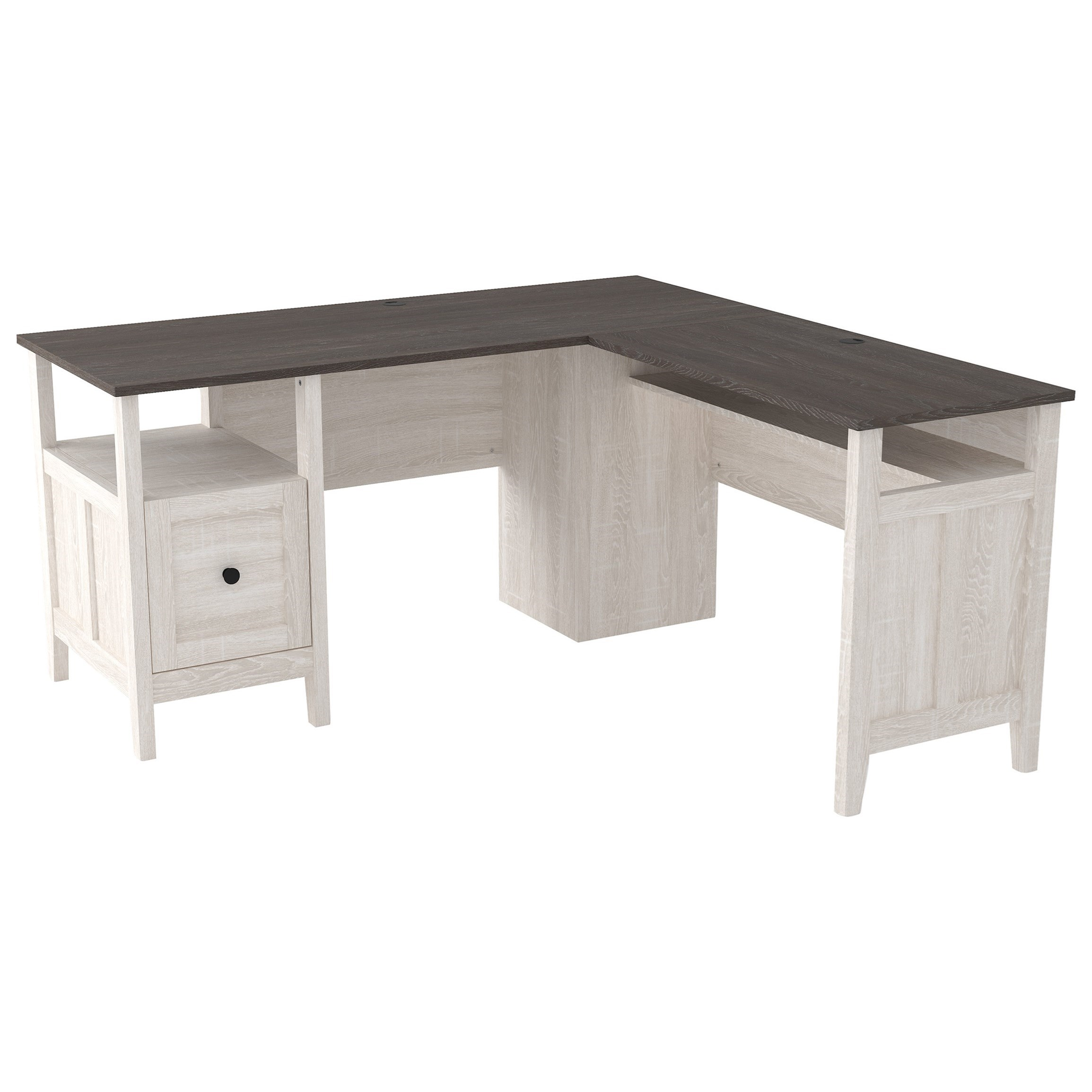 Dorrinson L-Shape Desk by Ashley (Signature Design) at Johnny Janosik