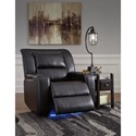 Signature Design by Ashley Dossman Power Recliner with Built-In Lighting